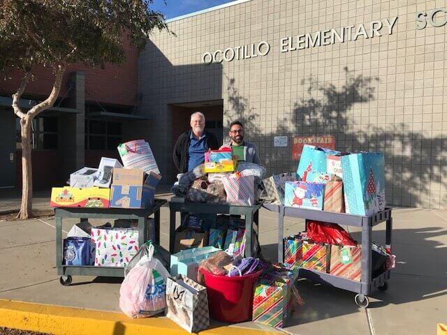 Ocotillo Elementary Christmas Drive